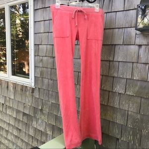 Juicy Couture | Pink Velour Track Pants Pockets XS